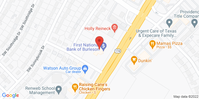 National Bank Burleson 740 Sw Wilshire Blvd 76028 on Map