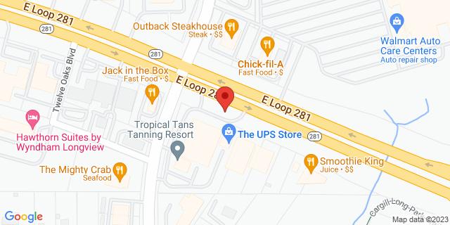 Longview 516 E Loop 281 75605 on Map
