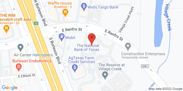 National Bank Burleson 400 E Renfro St 76028 on Map