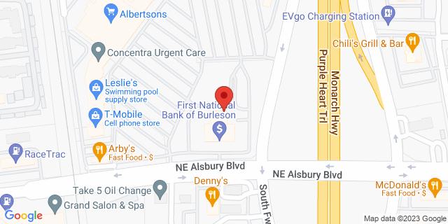 National Bank Burleson 899 Ne Alsbury Blvd 76028 on Map