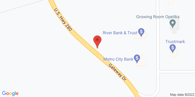 Metro Bank Opelika 1805 Gateway Dr 36801 on Map