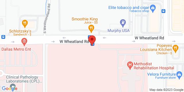 National Bank Dallas 3200 W Wheatland Rd 75237 on Map