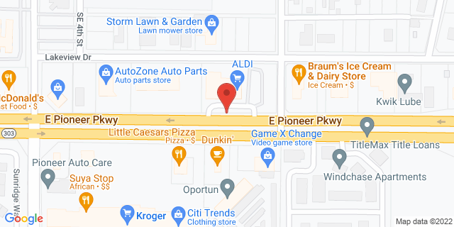 ACE Cash Express Grand Prairie 410 E Pioneer Pkwy 75051 on Map