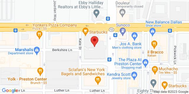 National Bank Dallas 8411 Preston Rd, Ste 106 75225 on Map