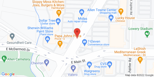 ACE Cash Express Allen 121 N Greenville Ave 75002 on Map