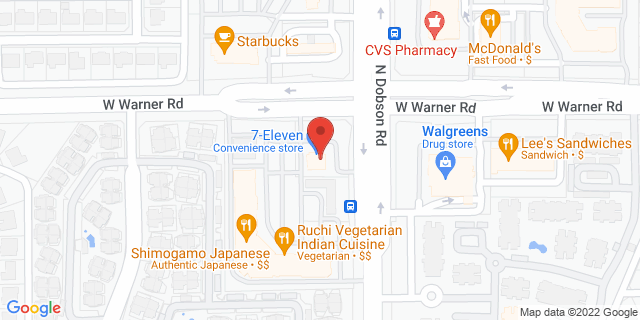Citibank Chandler 2025 W WARNER RD 85224 on Map