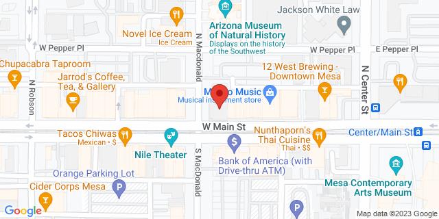 Citibank Mesa 1 North Macdonald 85201 on Map