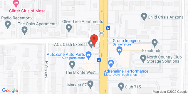 ACE Cash Express Mesa 760 N Country Club Dr 85201 on Map