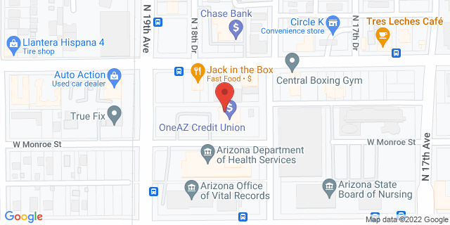 Citibank Phoenix 1812 W. Monroe 85007 on Map