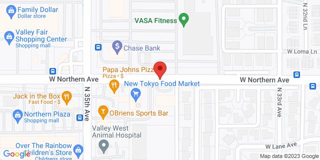 Checksmart Phoenix 3449 W. Northern Ave. 85051 on Map