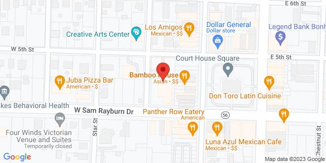 National Bank Bonham 120 W Sam Rayburn Dr 75418 on Map
