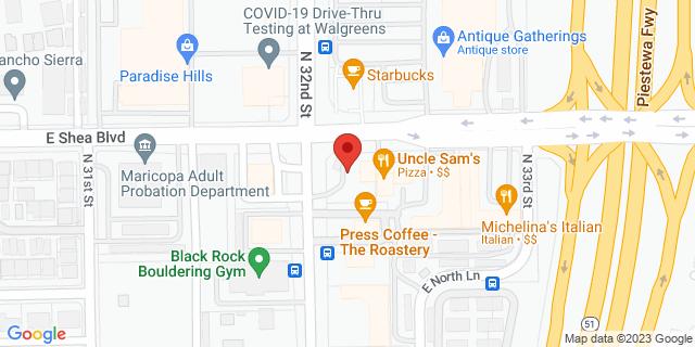 Citibank Phoenix 3201 E SHEA BLVD 85028 on Map