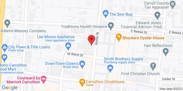 Metro Bank Carrollton 408 Rome St 30117 on Map