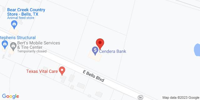 National Bank Bells 615 E Bells Blvd 75414 on Map