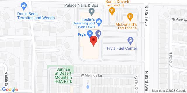 Citibank Peoria 8375 WEST DEER VALLEY ROAD 85382 on Map