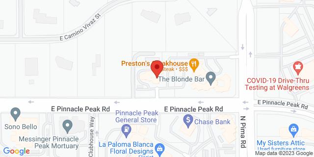 Citibank Scottsdale 8700 E PINNACLE PEAK RD 85255 on Map