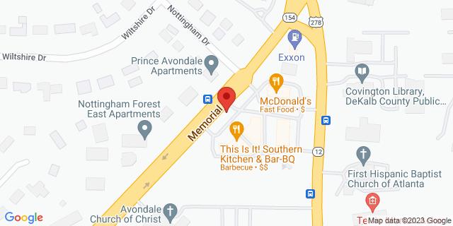 ACE Cash Express Decatur 4065 Memorial Dr 30032 on Map