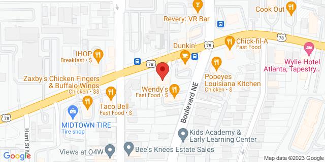 ACE Cash Express Atlanta 461 Ponce de Leon Ave NE 30308 on Map