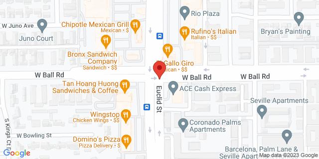 ACE Cash Express Anaheim 1204 S Euclid St 92802 on Map