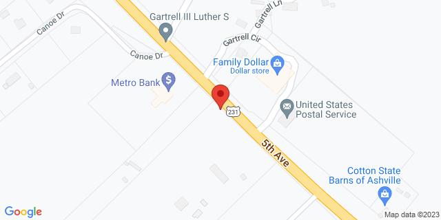 Metro Bank Ashville 35489 Us Highway 231 35953 on Map