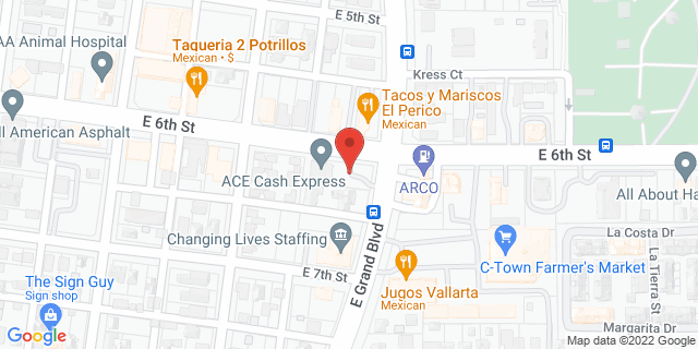 ACE Cash Express Corona 620 E 6th St 92879 on Map