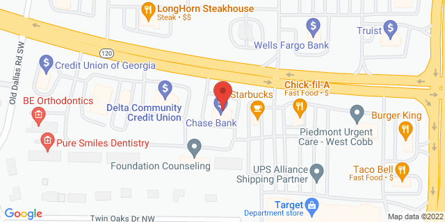 Metro Bank Marietta 2615 Dallas Hwy Sw 30064 on Map