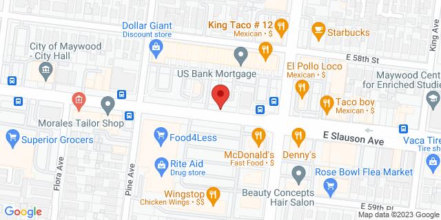 ACE Cash Express Maywood 4457 Slauson Ave 90270 on Map