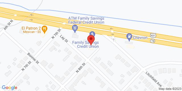 Citibank Gadsden 711 E. Meighan Blvd. 35903 on Map