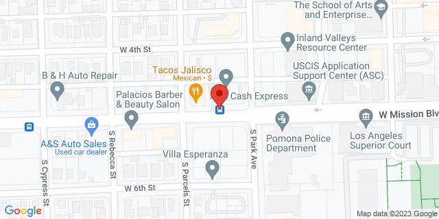 ACE Cash Express Pomona 545 W Mission Blvd 91766 on Map