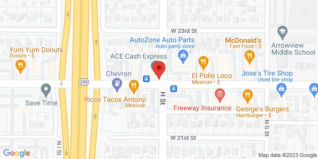 ACE Cash Express San Bernardino 804 W Highland Ave 92405 on Map