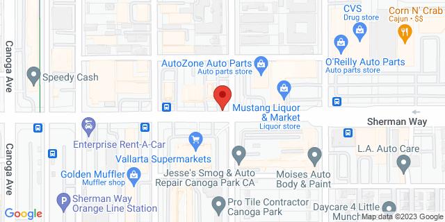 ACE Cash Express Canoga Park 21211 Sherman Way 91303 on Map