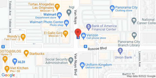 ACE Cash Express Panorama City 8318 Van Nuys Blvd 91402 on Map