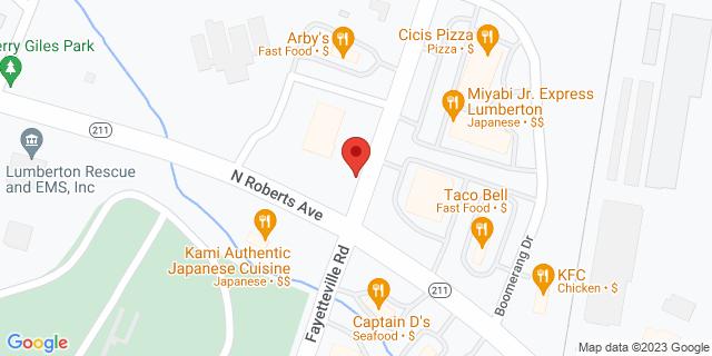 ACE Cash Express Lumberton 3101 Fayetteville Rd 28358 on Map