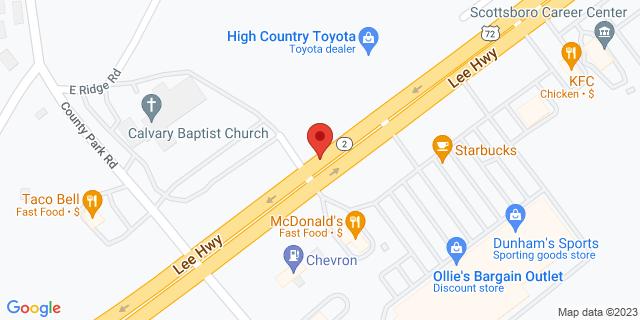 Citibank Scottsboro 22991 John T Reid Pkwy 35768 on Map