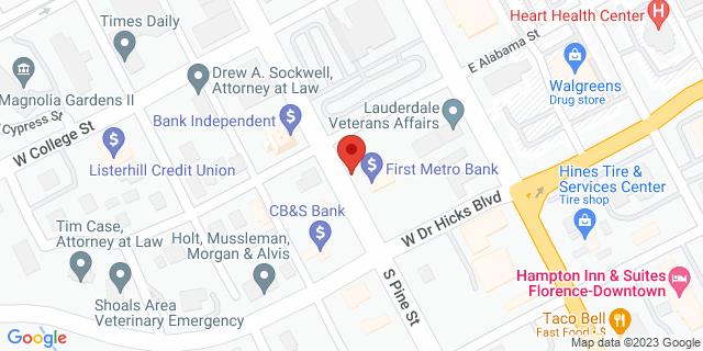 Metro Bank Florence 325 S Pine St 35630 on Map