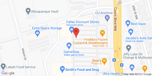 ACE Cash Express Albuquerque 111 Coors Blvd NW 87121 on Map