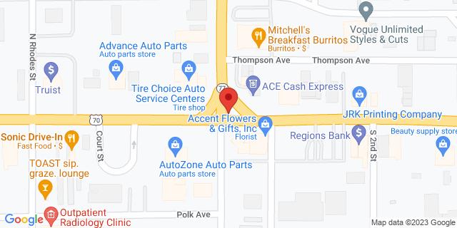 ACE Cash Express West Memphis 100 E Broadway St 72301 on Map