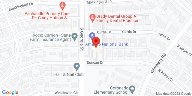 National Bank Amarillo 3101 S Georgia St 79109 on Map