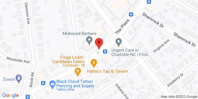 ACE Cash Express Charlotte 2915B The Plaza 28205 on Map