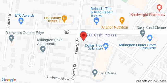 ACE Cash Express Millington 4985 Navy Rd 38053 on Map