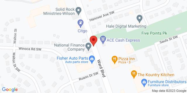 ACE Cash Express Wilson 718 Ward Blvd 27893 on Map