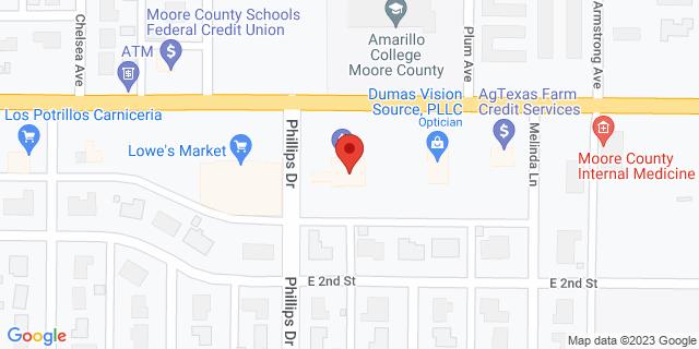 National Bank Dumas 1201 E 1st St 79029 on Map