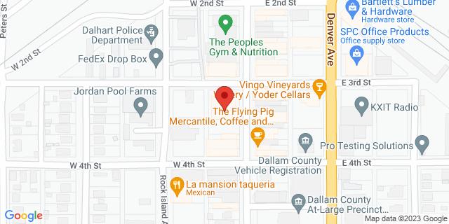 National Bank Dalhart 302 Denrock Ave 79022 on Map