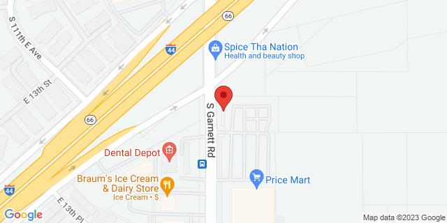 ACE Cash Express Tulsa 1245 S Garnett Rd 74128 on Map