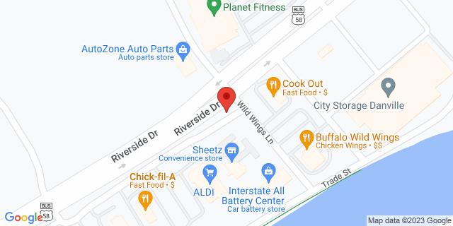 M&T Bank Danville 3425 Riverside Dr 24541 on Map