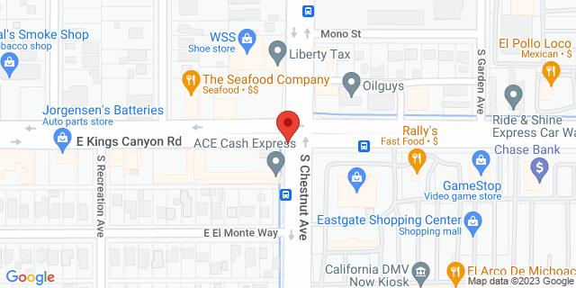 ACE Cash Express Fresno 4796 E Kings Canyon Rd 93702 on Map