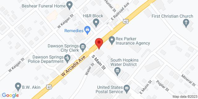Fifth Third Bank Dawson Springs 100 EAST ARCADIA AVENUE 42408 on Map