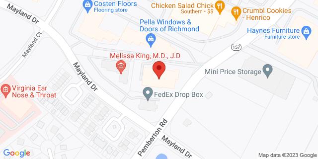 M&T Bank Henrico 3500 Pemberton Rd 23233 on Map
