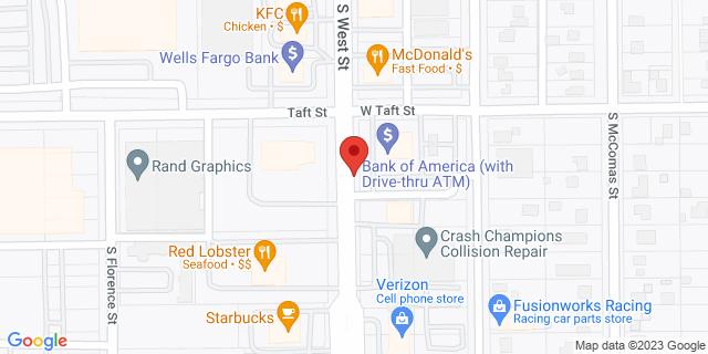 ACE Cash Express Wichita 620 S West St 67213 on Map