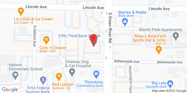 Fifth Third Bank Evansville 661 S. GREEN RIVER ROAD 47715 on Map
